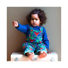 Squirrel Pattern Cord Dungarees via Polyvore featuring jumpsuits, cotton jumpsuit, print jumpsuit, patterned jumpsuit and green jumpsuit