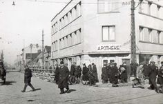 Limanowskiego St, the site of the Gestapo and German Police in Lodz Ghetto