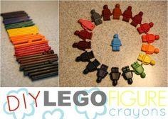 DIY Lego Figure Crayons
