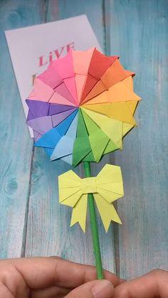Mar 2020 - creative crafts let's do together!😘😘😍😍 Cool Paper Crafts, Paper Flowers Craft, Paper Crafts Origami, Diy Paper, Paper Vase, Origami Flowers, Wood Crafts, Diy Crafts Hacks, Diy Crafts For Gifts