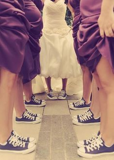 what do you ladies think of wearing converses at the reception? the guys are wearing them the whole time anyway...the regular black ones. i was thinking you guys could do the gray ones?