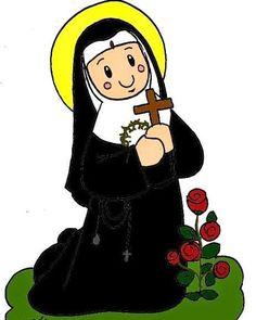 Santa Rita De Cascia, St Rita Of Cascia, Religious Images, Religious Art, Jesus Cartoon, Catholic Crafts, Religion Catolica, All Saints Day, Holy Mary