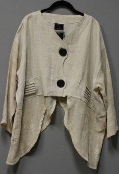 Prisa Collection Berlin Designer Lagenlook Linen Cardigan Jacket Beige $340 | eBay