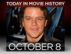 Today in movie history, #MattDamon was born.