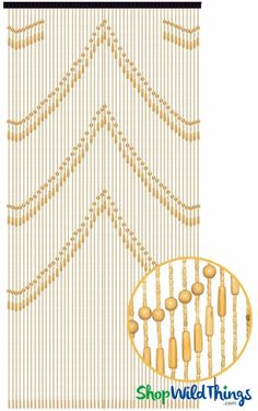 """Coming Soon - Wooden Bead Curtain - """"Lark"""" Light - 35"""" x 76"""" - 52 Strands (Extra Coverage)"""