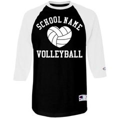 Trendy Volleyball Mom Unisex Champion 3/4 Sleeve Raglan Baseball Tee at Customized Girl storefront http://www.customizedgirl.com/s/mommeansbusiness