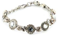"""Sorrelli """"Snow Bunny"""" Neutral Crystal Line Silver-Tone Bracelet Sorrelli. $112.00. Made in China. Store in a dry place"""