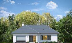 Projekt domu Parterowy 118,23 m2 - koszt budowy 184 tys. zł - EXTRADOM Morden House, Home Fashion, New Builds, Exterior Design, Townhouse, Gazebo, House Plans, Shed, New Homes