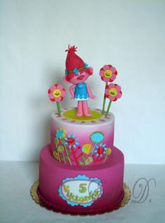 Poppy Troll - cake by Derika