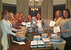Friends Freezer Meal Exchange (would make a cool night out once you add several bottles of wine & good music)!