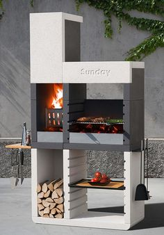 E Churrasco modern portable barbecue from Everdure Design Barbecue, Grill Design, Barbecue Grill, Grilling, Design Design, Grill Area, Bbq Area, Parrilla Exterior, Beton Design