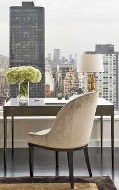 Simple and elegant home office decor   Upper East-side Manhattan - Champeau & Wilde.