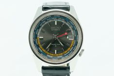 Seiko GMT World Time Automatic- Black/Slate Gray Dial