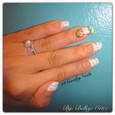 Belkys of Instagram's @SneakyNails mixed up the newspaper nails idea by adding a pink flower on her ring finger. Fun French Manicures, Nail Art, Cool Nail Designs, Newspaper Nails, Floral Nails, Nail Trends, Nail It! Magazine Fun French Manicure, French Manicures, French Nails, Newspaper Flowers, Newspaper Nails, Finger Fun, Ring Finger, Mani Pedi, Nail Manicure