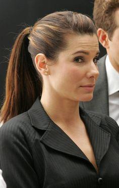 Sandra Bullock's Award-Winning Coif Hairstyles: Sandra Bullock Ponytail Highlight Hairstyles ~ hairstyleholic.com Celebrity Hairstyles Inspiration