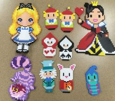 Perler bead Alice in the wonder land