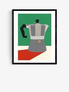 Rosi Feist - Espresso Wood Framed Print, 52 x 42cm, Green
