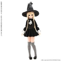 AZONE-1-6-Pure-Neemo-Witch-of-Starry-Night-Set-Color-Black-x-White