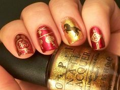 Chinese New Years Nails. Head on over to my blog to check it out. Plus there are more nail arts where this came from.
