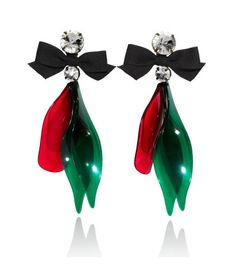 Earrings $19.95  DESCRIPTION  Marni. Long clip earrings in plastic with sparkly stones and a fabric bow.  DETAILS  100% polyacrylic. -  Imported.  MARNI at H&M
