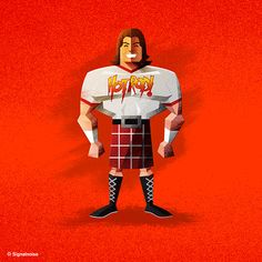 'Rowdy' Roddy Piper. #WWE Superstar Illustrations