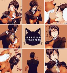 black butler, cats, and manga image