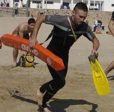Socorristas, pruebas en playa