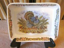 Queenu0027s Myott Thanksgiving Turkey Casserole Baking China Serving Dish & The Best of Thanksgiving Table Dinnerware / The English Room Blog ...