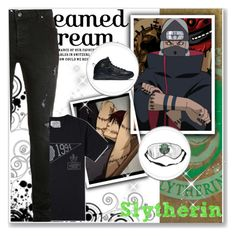 """Hogwarts Students: Kakuzu Gink"" by bambolinadicarta ❤ liked on Polyvore featuring Topman, NIKE, men's fashion and menswear"