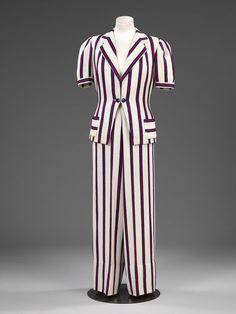 Beach trouser suit    Place of origin:  London, England (made)    Date:  1936-1937 (made)    Artist/Maker:  Arnson