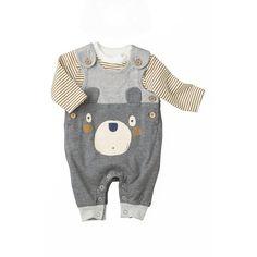 Ensemble salopette ours en jersey   bébé garçon Next.
