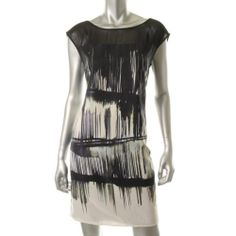 Jessica Simpson || Black Graphic Casual Dress You could do this one yourself on a plain white T-shirt dress