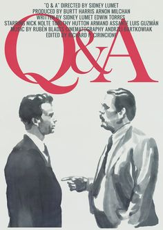 Tony Stella's poster for Sidney Lumet's Q&A (1990).