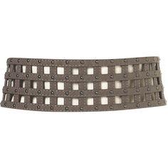 Suedette Cage Belt ($36) via Polyvore