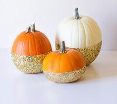 Dipped glitter pumpkins..