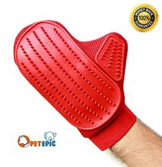 Pet Grooming Glove Brush  Pet Hair Remove and Bathing Mitt for Dogs Cats and Horses  Clean and Massage At Once by Pet Epic -- You can find more details by visiting the image link. (Note:Amazon affiliate link)