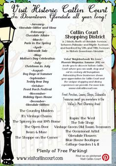 12 Months of Fun - Catlin Court Historic Downtown Glendale - 2014