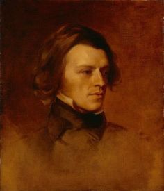 'Alfred Tennyson, First Baron Tennyson' (c. 1840) by Samuel Laurence and Sir Edward Coley Burne-Jones. Oil on canvas.  The National Portrait Gallery, London, England.