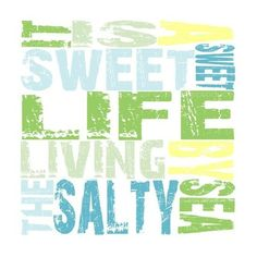 It is a Sweet Sweet Life Living by the Salty Sea Blue, Green, Yellow,... ❤ liked on Polyvore