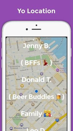 Yo's new update now allows you to easily send your location to friends.