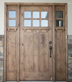 KNOTTY+ALDER+ENTRY+DOOR+CRAFTSMAN+STYLE+WITH+SIDE+LITES+#KSREntryDoorwithsidelights