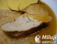 Vepřová plec pečená po selsku Recept - Milujivaření.cz Camembert Cheese, Food, Cooking, Essen, Meals, Yemek, Eten