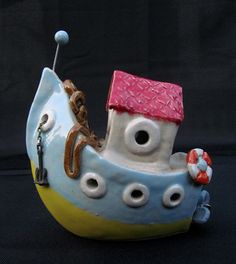 ceramic boat Hausboot