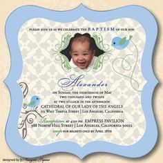 baptismal invitation - Free Invitation for You Christening Invitations, Our Lady, Etiquette, Children, Kids, This Is Us, Reception, Free, Drink