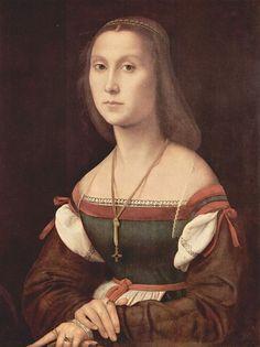 La Muta. Raphael. c. 1507-08. In the Galleria Nazionale delle Marche, Urbino.