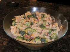 Brocolli and Pasta salad