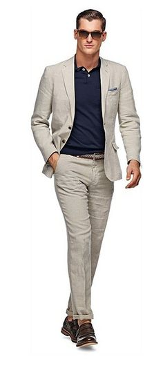 Latest Coat Pant Designs Light Grey Linen Casual Custom Suits For Men Single Breasted Beach Summer Slim Fit 2 Pieces Terno 618 Fashion Moda, Suit Fashion, Mens Fashion, Mode Polo, Polo Outfit, Style Masculin, La Mode Masculine, Look Girl, Men Accessories