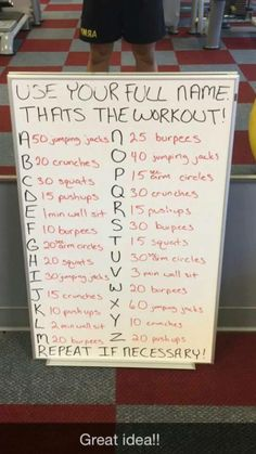 Full name workout...