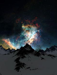 燃える星雲 mountain