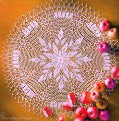 Вязание Искусство: Вязание крючком кружева салфетки - вязание крючком цветок - Свободный Образец